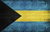 La bandera nacional de las bahamas — Foto de Stock