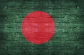 The National Flag of the Bangladesh Wood Texture — Foto Stock