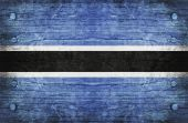 The National Flag of the Botswana — Stock Photo