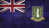 The National Flag of the British Virgin Islands  UK — Stock Photo