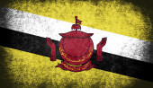 The National Flag of the Brunei — Stock Photo