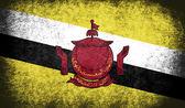 Die nationalflagge des brunei — Stockfoto