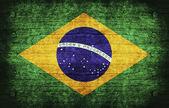 бразильский флаг — Стоковое фото
