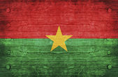 The National Flag of the Burkina Faso — Stock Photo