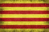 The National Flag of the Catalonia — Stockfoto