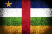 The National Flag of the Central African Republic — Stock Photo