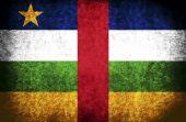 La bandera nacional de la república centroafricana — Foto de Stock