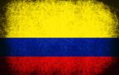 The National Flag of the Colombia — Stock Photo