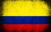 Die nationalflagge der kolumbien — Stockfoto