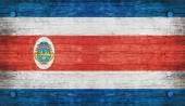 La bandera nacional de costa rica — Foto de Stock
