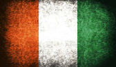 The National Flag of the cote d'ivoire — Stock Photo