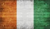 La bandera nacional de la cote d ' ivoire — Foto de Stock