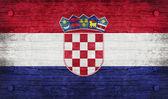 Die nationalflagge der kroatien — Stockfoto