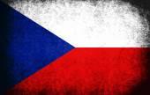 Die flagge der tschechischen republik — Stockfoto