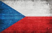 The National Flag of the Czech Republic — Stock Photo