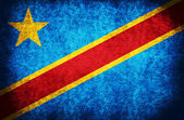The National Flag of the Democratic Republic of the Congo — Stock Photo