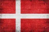 Die nationalflagge des dänemark — Stockfoto