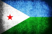 The National Flag of the Djibouti — Stock Photo