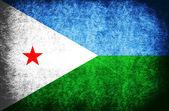 Die nationalflagge der dschibuti — Stockfoto