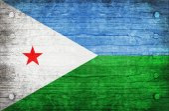 La bandera nacional del djibouti — Foto de Stock