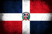 The National Flag of the Dominican Republic — Stock Photo