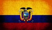 Die flagge der republik ecuador — Stockfoto