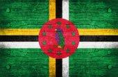 La bandera nacional de la dominica — Foto de Stock