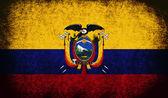 La bandera nacional del ecuador — Foto de Stock