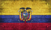 The National Flag of the Ecuador — Stock Photo