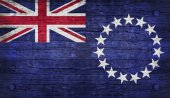 The National Flag of the Cook Islands — Stock Photo