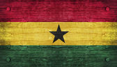 The National Flag of the Ghana — Stock Photo