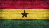 Státní vlajka ghaně — Stock fotografie