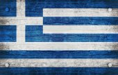 The National Flag of the Greece — Stock Photo
