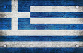 Národní vlajka řecko — Stock fotografie