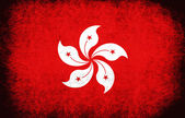 The National Flag of the Hong Kong (China) — Stock Photo