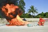 Practice fire drills — Stock Photo