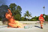 Praktiken brandövningar — Stockfoto