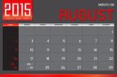 Abstract calendar 2015 — 图库矢量图片