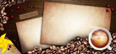 Coffee abstract illustration and menu background — Stock Photo