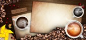 Coffee illustration background — Stock Photo