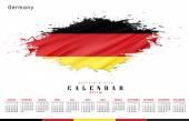 Germany calendar 2016 — Stock Photo