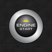 Engine start button close-up image — Stock Photo