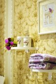 Vintage bathroom decoration — Stock Photo