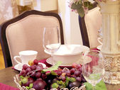 Dinning table decoration — Stock Photo