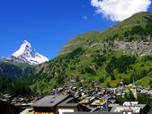 Zermatt Switzerland, green city — Stock Photo