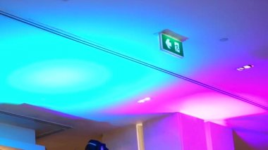 HD 1080 closeup of LED changing colours — Wideo stockowe