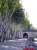 Seine river side broadwalk in Paris — Foto Stock