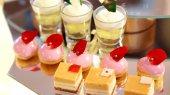 Colourful dessert buffet, afternoon high tea — Foto Stock