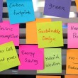Sustainable, green design concept post it — Stock Photo #57084695