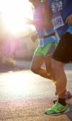 Marathon runners morning — Stock fotografie
